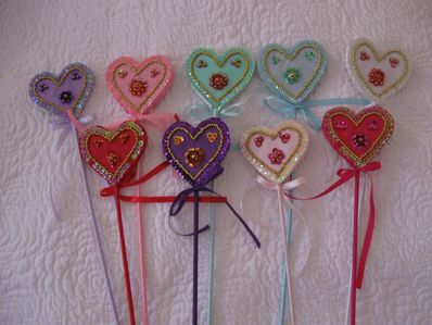 Sequin Heart Wand