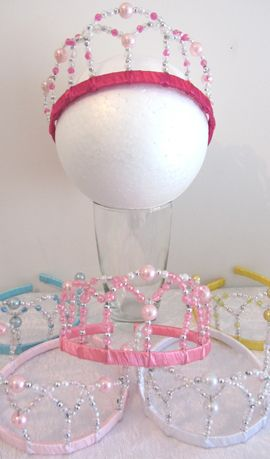 Beaded Tiara - choice of colours