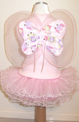 SET - Sparkle Tutu Pants & Singlet in Pink Owl