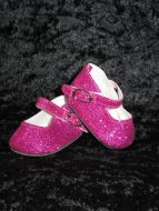 Hot pink Glitter Dolly Shoes - CHRISTMAS SALE ITEM NOW 50% OFF
