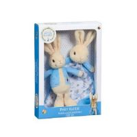 Peter Rabbit, Rattle & Comforter boxed gift set.