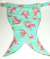 Mermaid Tail Mint Floral