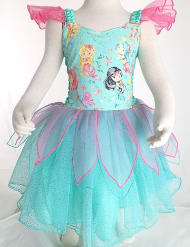 Deluxe Mermaid Princess Dress in Mint by Fairy Frocks