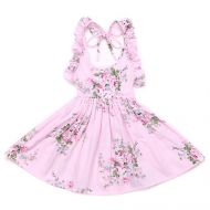 Pink Posy Rose Sundress