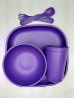 Replay Set Purple Plate & Bowl.