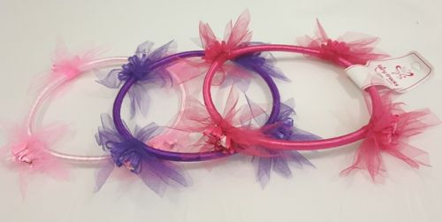 Ribbon & Rosette Garland choice  of colours
