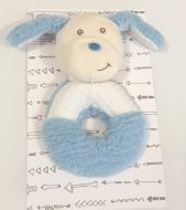 Toby the Dog grab rattle by Alluring Linen