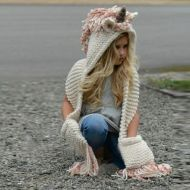 Knitted Unicorn Scarf