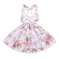White Posy Rose Sundress