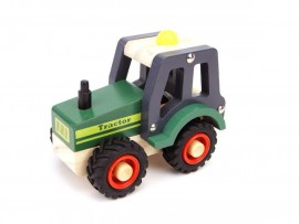 Green Wooden Tractor